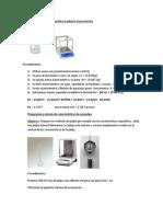 Determinación del peso especifico mediante el picnómetro