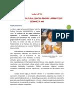 Lectura N° 04 EXPRESIONES CULTURALES DE LAMBAYEQUE