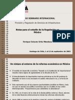 Notas de Regulacion Mexico