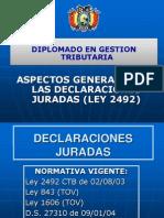 Aspectos Generales de Las Declaraciones Juradas (Ley 2492)