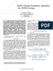 Simplified Linear MMSE algorithm for OFDM sytems