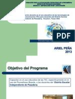 Planificación para Capacitación en el uso de Promethean Board