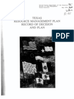 Texas Resource Management Plan BLM Leasing (1996)