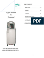 Oxygen Concentrator 7F-5 User's Manual