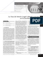 La Tasa de Interés Legal Laboral y su uso