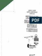 Tecnicas de Organizacion Sistemas y Metodos