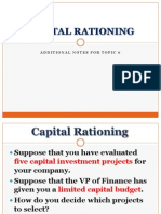 Additional Topic 6-Capital Rationing