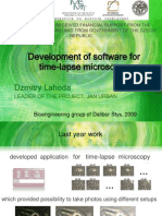 Development of Software for Time-lapse Microscopy 2009 Final