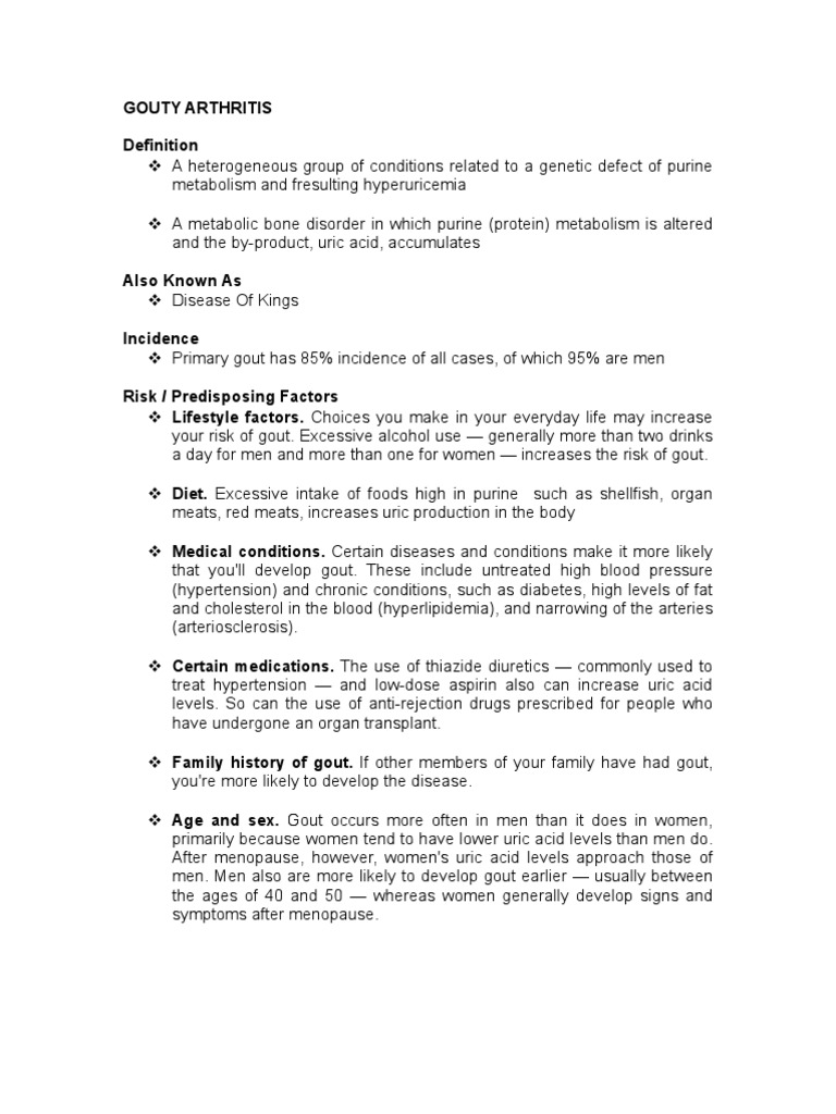 gouty arthritis | gout | medicine