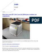Disección a una HP Color LaserJet 2600n para reutilizar sus componentes _ Servicios Web Gratis