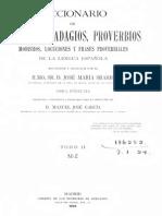 Diccionario de Refranes, Adagios y Proverbios de La Lengua Espanola 2 - Sbarbi (1922)