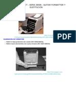 HP COLOR LASERJET - SERIE 2600N - EXTRACCIÓN Y SUSTITUCIÓN FORMATTER _ ayuda Electro