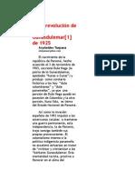 La Revolucion de Los Gunasdulemar 1925