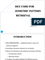 Index code for multibiometric pattern retrieval