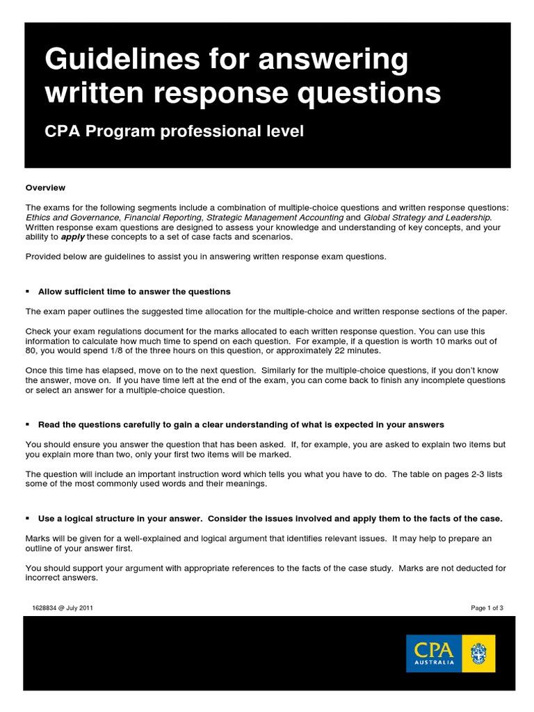 written response example