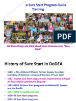 welcome to sure start historical overview for doddse