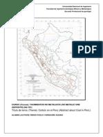 Informe Carbon - Yacimientos No Metalicos