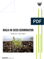 Walk-In Seed Germinator