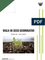 Walk-In Seed Germinator