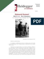 Filosofia-heidegger - Carta a Edmund Husserl