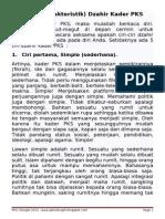 5 Ciri Kader PKS