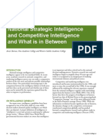 National Intelligence and Competitive Intelligence