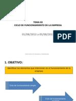 Tema Ciclo de Funcionamiento Empresarial