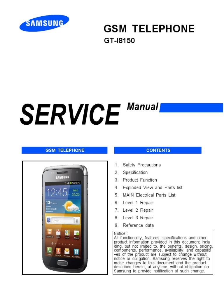 samsung gt i8150 galaxy w electrostatic discharge electrical rh es scribd com samsung gt-i9500 service manual samsung i9500 service manual