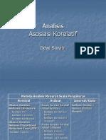 Analisis Asosiasi Korelatif