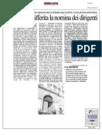 Rassegna Stampa 16.10.2013