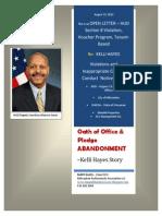 Open Letter - Deputy Maurice Jones - Hud