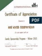 Family Sponsorship Program 2003