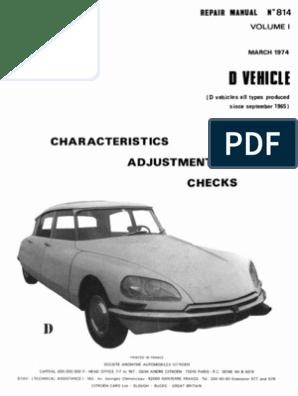 Citroen DS Repair Manual 814 Vol 1 March 1974   Voltage   Relay   Citroen Sm Wiring Diagram      Scribd