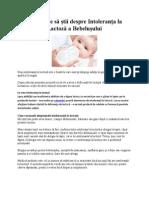 Ce trebuie sa stii despre Intoleranta la Lactoza a Bebelusului