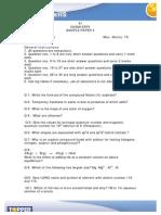 Class 11 Chemistry Topperlearning Sample Paper3