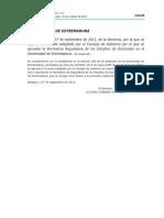 Normativa Reguladora de Los Estudios de Doctorado en La Universidad de Extremadura