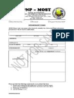membership form original