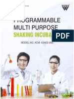Programmable Multi Purpose Shaking Incubator