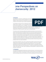 Some Perspectives on Cybersecurity 2012