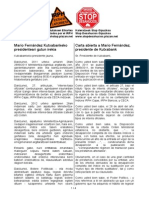 Carta Abierta Presidente Kutxabank