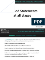 Method Statements 20 % Week 08-09