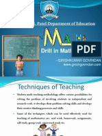 Drill in Maths