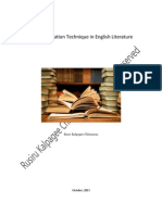 The Examination Technique in English Literature