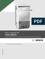 Bosch Solid 2000 B Instructiuni Montaj Utilizare Intretinere