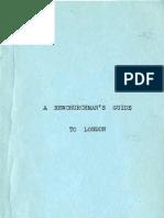 Dennis Duckworth SWEDENBORG's LONDON a Newchurchman's Guide