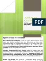 JOB ORDER COSTING-Notes and Illustration