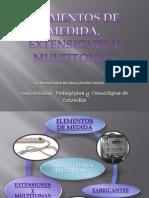 Elementos de Medida, Extensiones y Multitomas