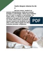 Ce spun visele despre starea ta de sănătate