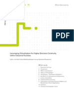 WhitePaper_Wonderware_Leveraging Virtualization for Higher Business Continuity