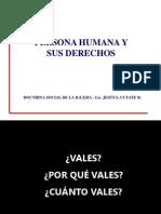 Persona Humana y Sus Derechos